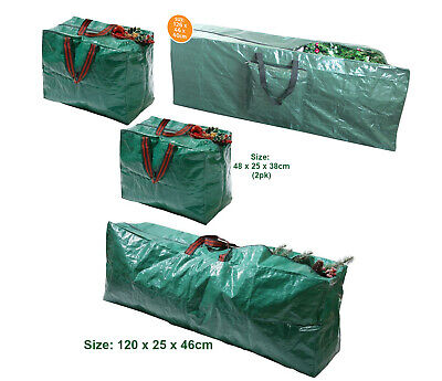 Large Christmas Xmas Decorations Lights Garland Tree Jumbo Storage Bag Handles • 5.99£