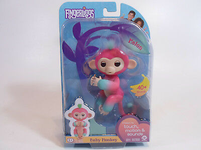 AU16.81 • Buy WowWee Fingerlings Melon Baby Monkey Interactive Toy Pink 40+ Sounds