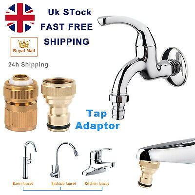 4P Brass Auto Water Stop Fit Female Hose Pipe Connector Hose Lock Clip 1/2  • 7.99£
