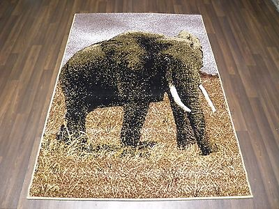 £29.99 • Buy Modern Approx 6x4 120x170cm Woven Backed Elephant Rugs Sale  Top Quality Beiges