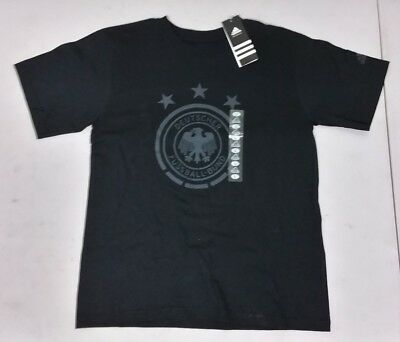 Adidas Youth Germany Soccer Team Country Football Crest Go To Tee T-shirt S-XL • 17.88£