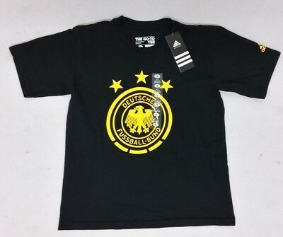 Adidas Youth Germany Soccer Team Country Football Crest Logo Go To Tee T-shirt • 17.88£