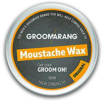 Moustache & Beard Wax Extra Strong Original 100% Natural Hair Care Organic Vegan • 3.79£