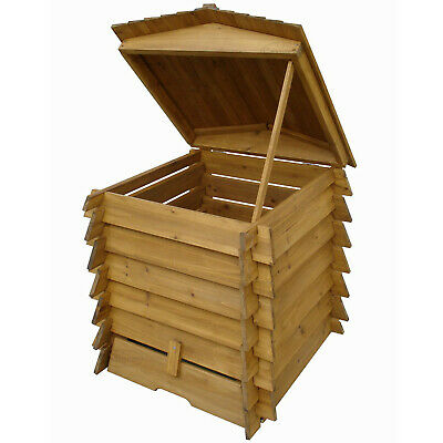 328L Wooden Compost Bin Composter BeeHive Style Recycle Garden Kitchen Waste 337 • 79.99£
