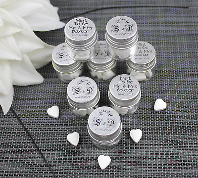 £2.79 • Buy Personalised Wedding Favour Sweets - Mint To Be - Glass Jars