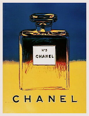 $795 • Buy Chanel (Yellow & Blue) Offset Lithograph On Paper Mounted On Canvas Andy Warhol