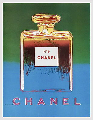 $795 • Buy Chanel (Green & Blue) Offset Lithograph On Paper Mounted On Canvas Andy Warhol