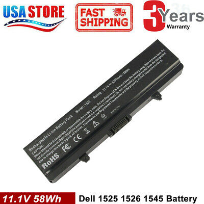 $12.99 • Buy 5.2A Battery For Dell Inspiron 1525 1526 1545 1546 GW240 RN873 X284G M911G HP297