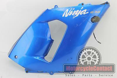 $49.13 • Buy 05 06 Zx6r 636 Mid Side Fairing Cowl Plastic Oem Right Blue