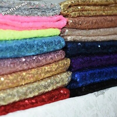 Sequin Fabric Novelty Sparkly Shiny Bling Glittery 10 X 14  Piece Material Cloth • 1.75£