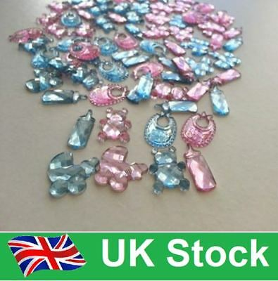 50 Baby Shower Table Confetti/Sprinkle Girl/Boy Party Decorations/Card Crafts-UK • 2.39£