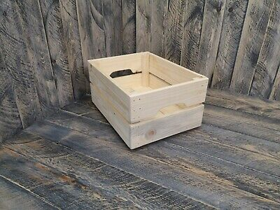 Rustic Reclaimed Wooden Crates Box Storage Shelf Fruit Vegetable Wine Retail • 12.95£