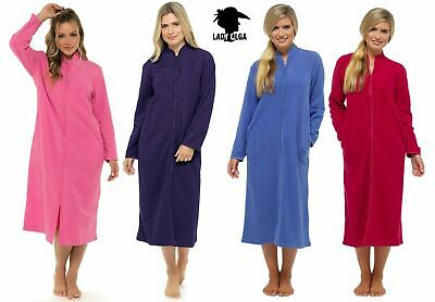 Ladies Zip Front Soft Fleece Luxury Dressing Gown Robe Plus Size UK 10 - UK 28 • 21.99£