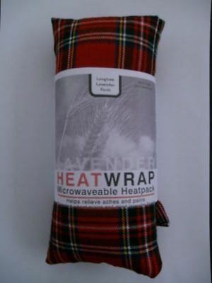 RED TARTAN Heat/Cool Pack.Microwaveable/Freezable. Lavender & Wheat Bag • 5.99£