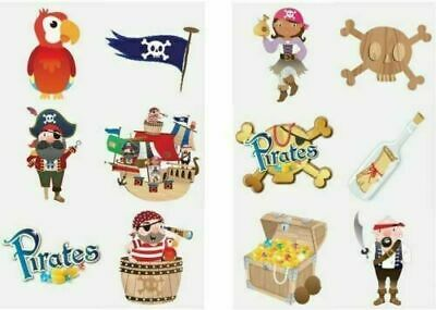 £0.99 • Buy 12 X PIRATE Temporary Tattoos Boys Children's Kids Party Loot Bag Fillers