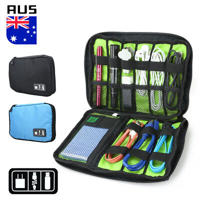 AU6.99 • Buy Travel Digital Electronic Accessories Case Cable USB Drive Insert Organizer Bag