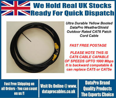 £29.99 • Buy 40M DataPro WeatherShield CAT6 External Outdoor Network Ethernet Patch Cable Sky