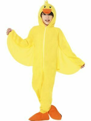 Boys Girls Childrens Yellow Duck Bird Animal Fancy Dress Costume Book Day Outfit • 17.99£