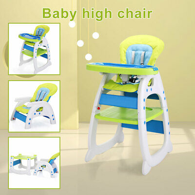 $78.99 • Buy Baby High Chair Table 3 In 1 Convertible Play Seat Booster Toddler Feeding Tray