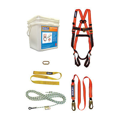 Bailey FALL PROTECTION ENTRY LEVEL ROOF WORKERS KIT Universal Harness*Aust Brand • 251.04£