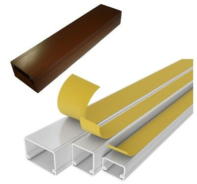£10.99 • Buy 6 METRES - Electrical Cable Trunking Wire Conduit Tidy Plastic Cover White Brown