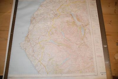 OS Poster Flat MAP West Cumbria Keswick Cockermouth Workington Whitehaven Lakes • 9£