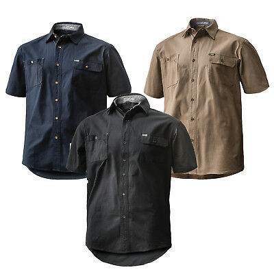 AU35.57 • Buy FXD SSH-1 360 Degree Stretch Tailored Fit Short Sleeved Work Shirt