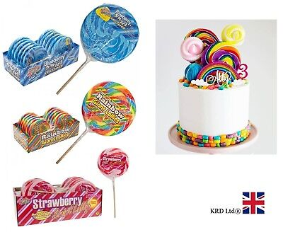 GIANT CANDY LOLLIES Baby Shower Birthday Party Bag Filler Rock Lolly Gift NEW UK • 4.35£