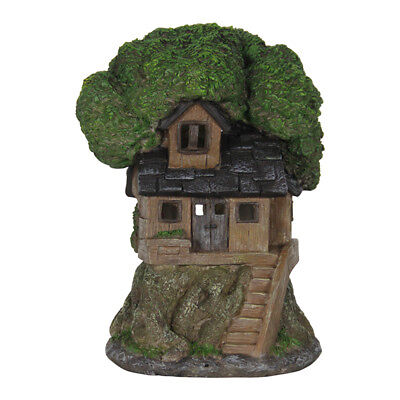 $48.99 • Buy Miniature Dollhouse FAIRY GARDEN - Solar Shingle Roof Tree House - Accessories