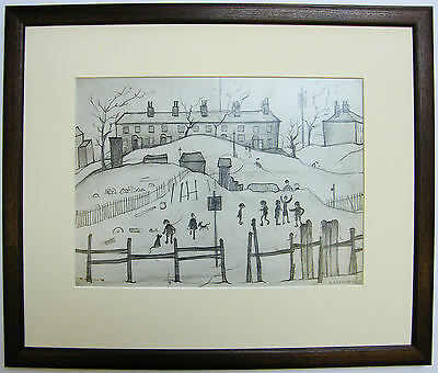 L.S Lowry HOUSES IN BROUGHTON Framed Print • 22£