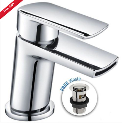 £27.95 • Buy Ozone Waterfall Cloakroom Basin Sink Tap Square Mono Mixer Chrome *free Waste*
