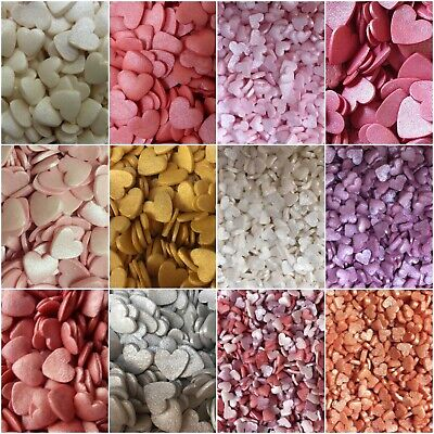 £3.25 • Buy Cupcake Sprinkles Edible Hearts Cake Toppers Decorations Wedding Valentine's Day