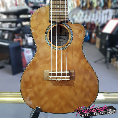 AU459 • Buy Lanikai LQMNACEC Quilted Maple Electric Concert Ukulele With Polyfoam Case