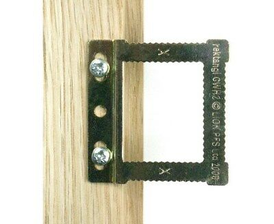 Cwh2 Square Sawtooth Hangers  **free P&p** • 1.95£