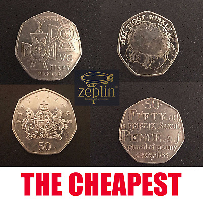 4 X 50Pence Coin Packs ~ Roger Public Tiggy Winkle Battle Of Britain Team GB 50p • 4.99£