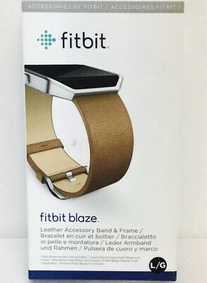 $ CDN24.98 • Buy Fitbit Blaze Large Brown Leather Replacement Band OEM Fast Shipping!!