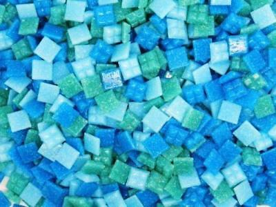 £5.10 • Buy 400 Vitreous Glass Mosaic Tiles Turquoise Mix Arts & Crafts 10mm