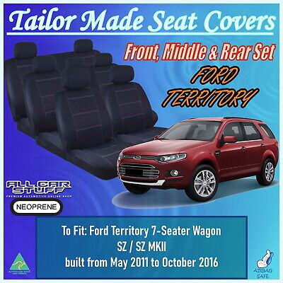 AU540 • Buy Neoprene Seat Covers For Ford Territory 7 Seater (3 Rows) From 05/2004 - Current