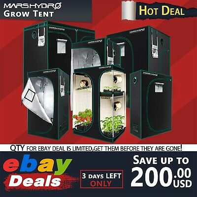 AU180.20 • Buy Mars Hydro Indoor Grow Tent Hydroponic 100% Reflective Mylar Non Toxic Room Box