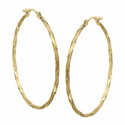 View Details Eternity Gold Twisted Hoop Earrings In 14K Gold • 64.39$