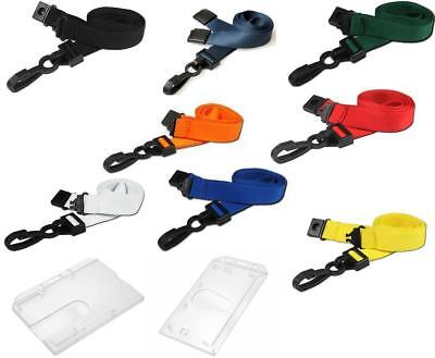 ID Neck Strap Premium Lanyard And Enclosed Security Pass Badge ID Card Holder • 2.30£