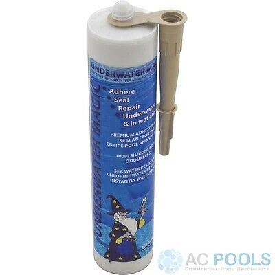 Underwater Magic Adhesive Glue & Sealant (Tan) 290ml Tube For Pool Repair • 44.48£