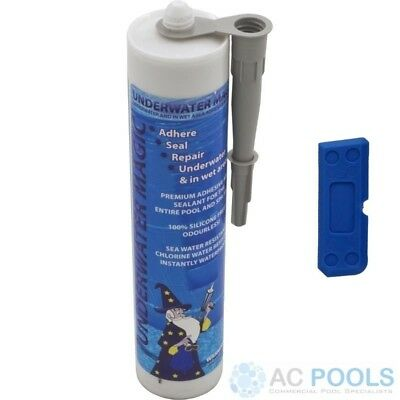 Underwater Magic Adhesive Glue & Sealant (Grey) 290ml Tube - With Sealant Tool • 45.94£