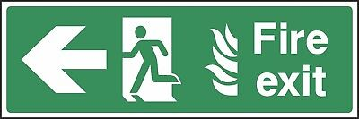 Fire Exit This Way Sign [V6EMER0019] Emergency Escape Building Office Safety • 0.99£