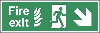 Fire Exit This Way Sign [V6EMER0022] Emergency Escape Building Office Safety • 0.99£