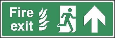 Fire Exit This Way Sign [V6EMER0023] Emergency Escape Building Office Safety • 0.99£