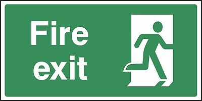 Fire Exit Door Right Sign [V6EMER0035] Emergency Escape Building Safety • 0.99£
