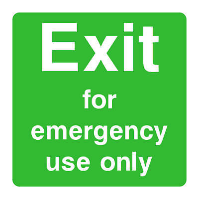 Fire Exit Emergency Use Only Sign [V6EMER0059] Emergency Escape Building Safety • 0.99£