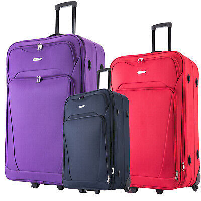£19.99 • Buy XL Large Suitcase Expandable Lightweight Luggage Travel Trolley CABIN Wheeled