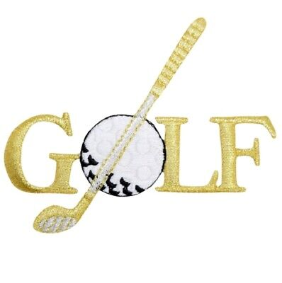 £2.36 • Buy Golf Applique Patch - Gold/Silver, Links, Golfing Badge 3.5  (Iron On)